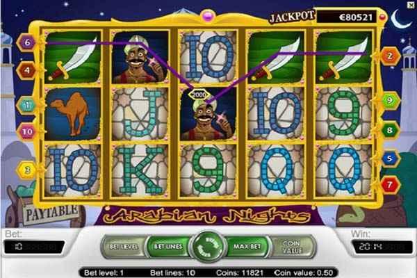 arabian nights paylines
