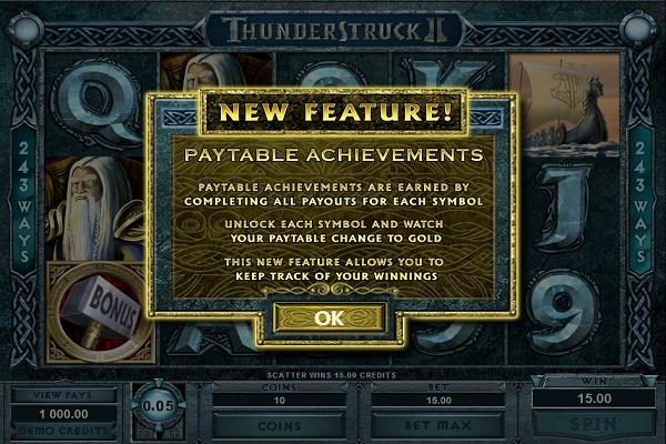 thunderstruck 2 uusi ominaisuus