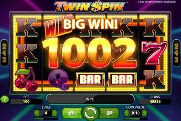 twin spin kolikkopeli