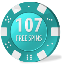 107 free spins