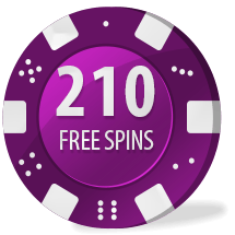 210 free spins
