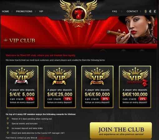 7red casino vip club