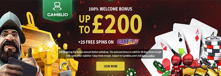 Gamblio online casino home page