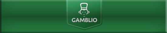 gamblio casino logo green banner