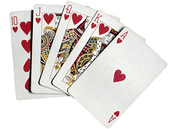 poker cards hearts