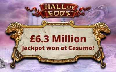 Casumo Jackpot Awards Over £6.3 Million